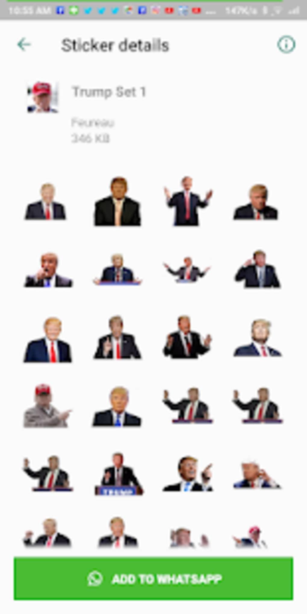 Donald Trump Wastickerapps Sticker For Whatsapp For Android