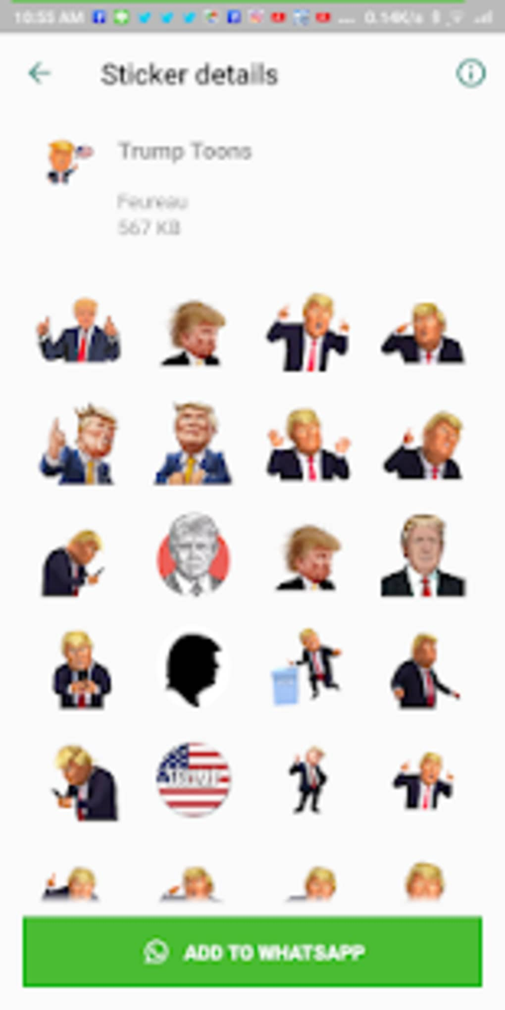 Donald Trump Wastickerapps Sticker For Whatsapp For Android Download