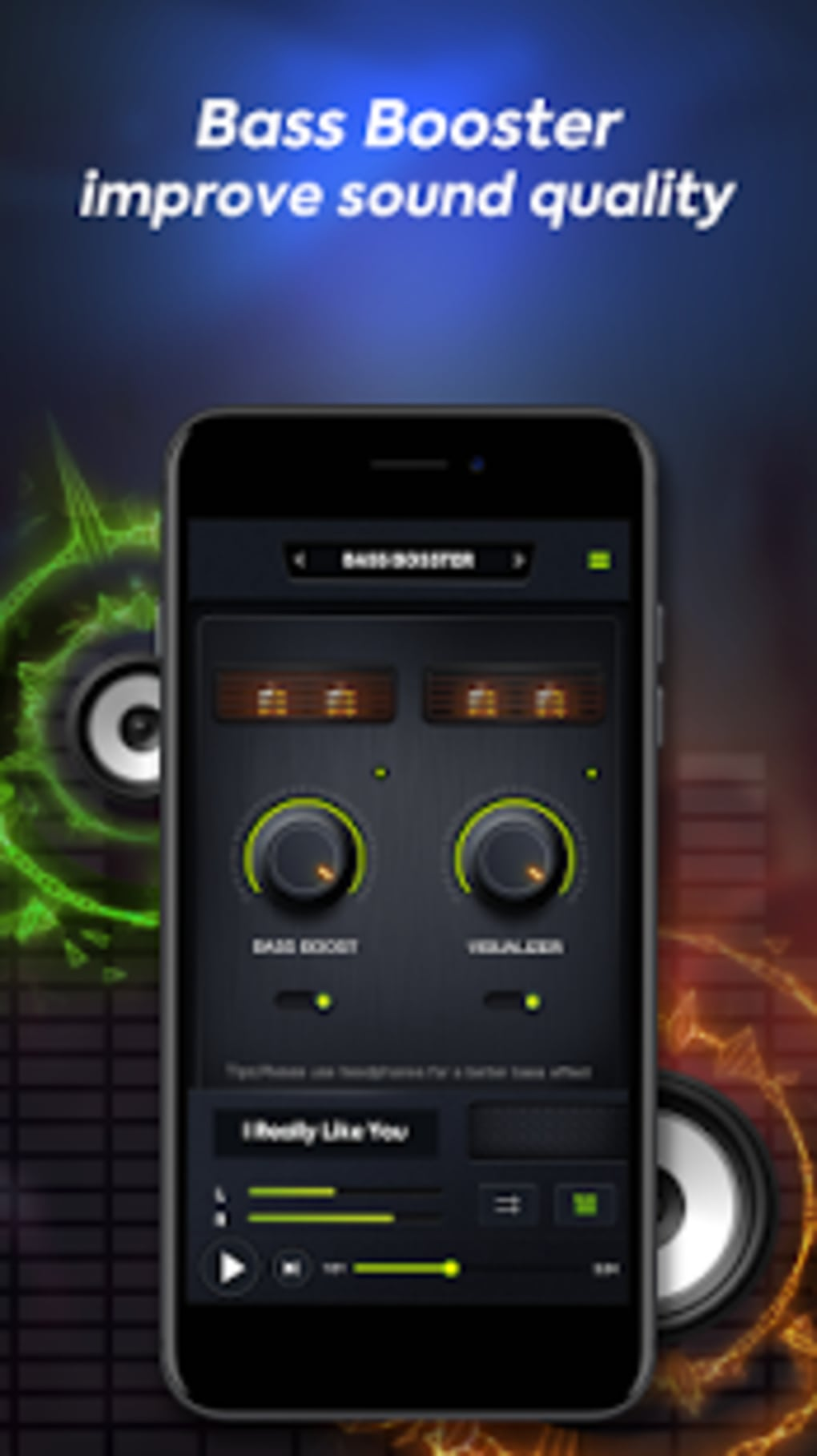 Volume Booster Music Player With Equalizer For Android Download Audio 1 6 Screenshots