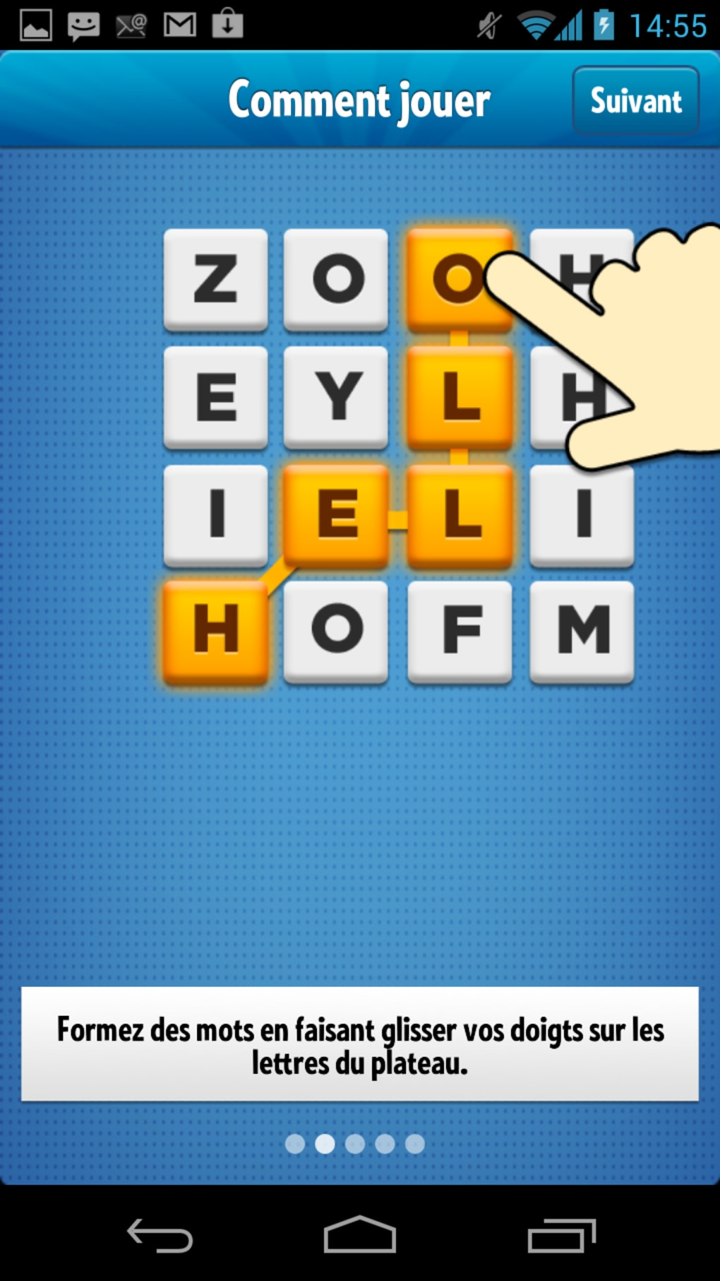 ruzzle sur tablette