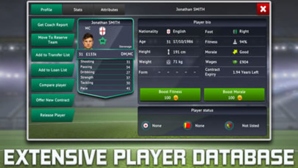 Soccer Manager 2019 for iPhone - Download