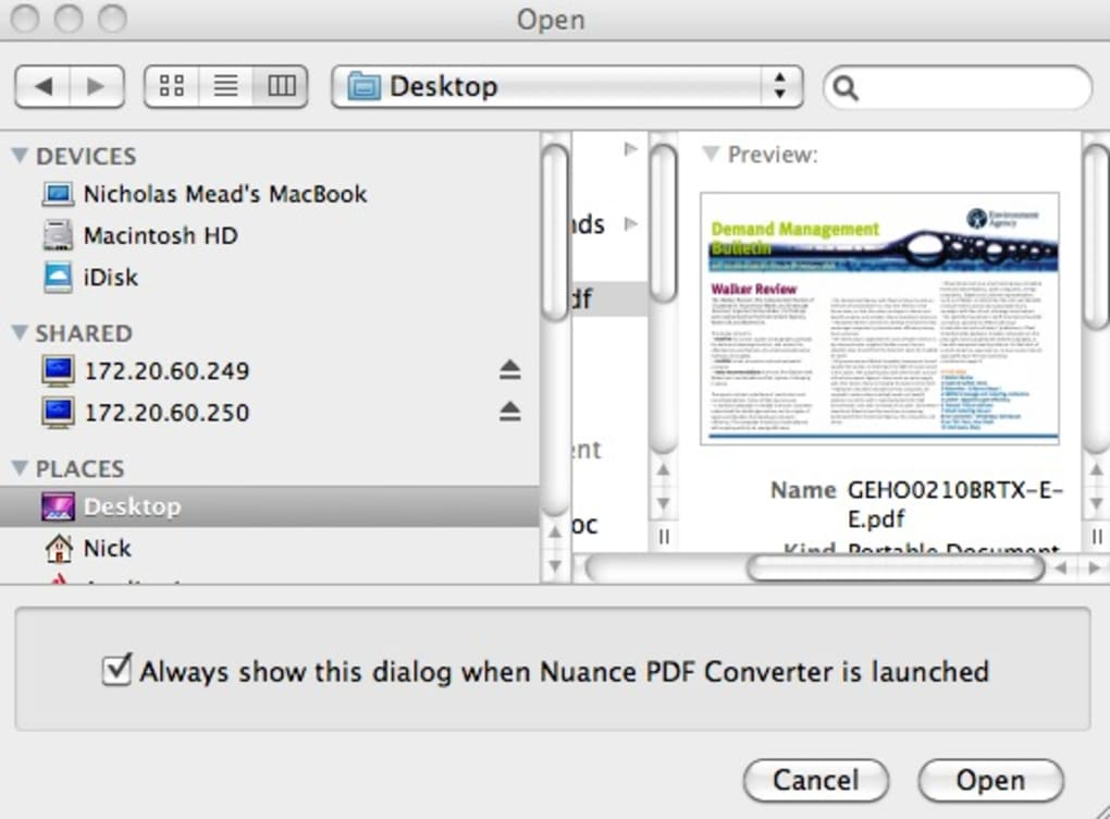 Nuance PDF Converter for Mac - Download