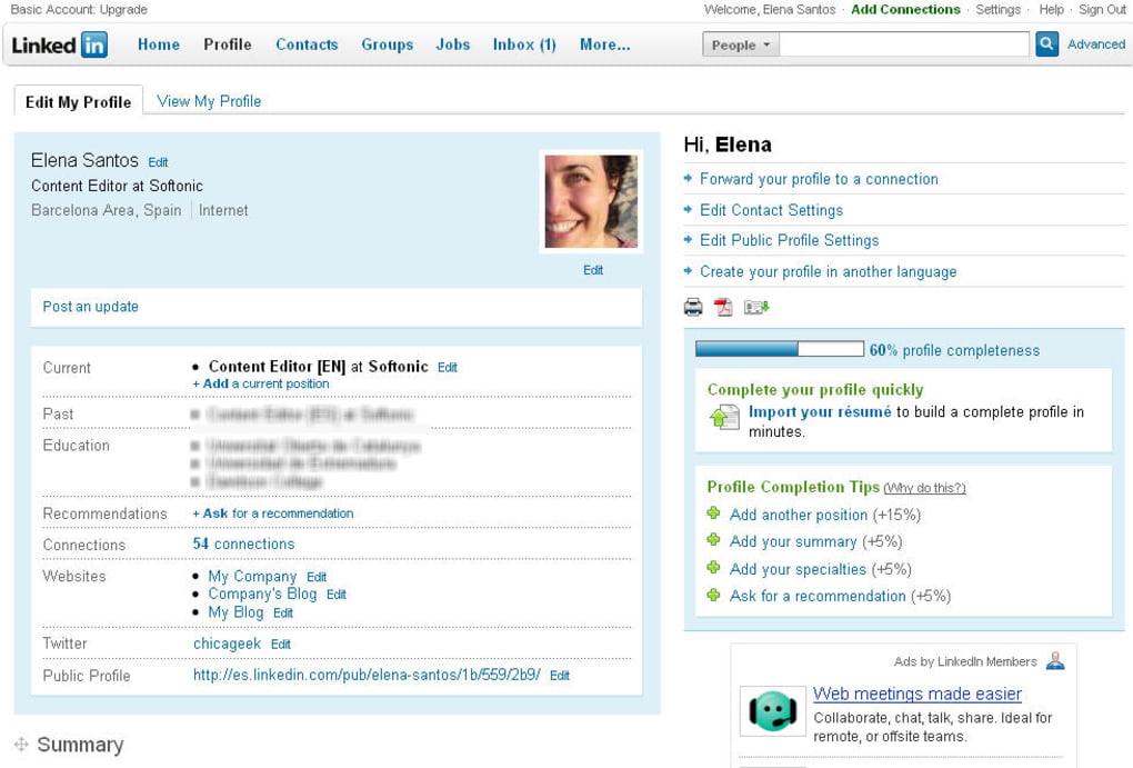 LinkedIn intalnire site ul web