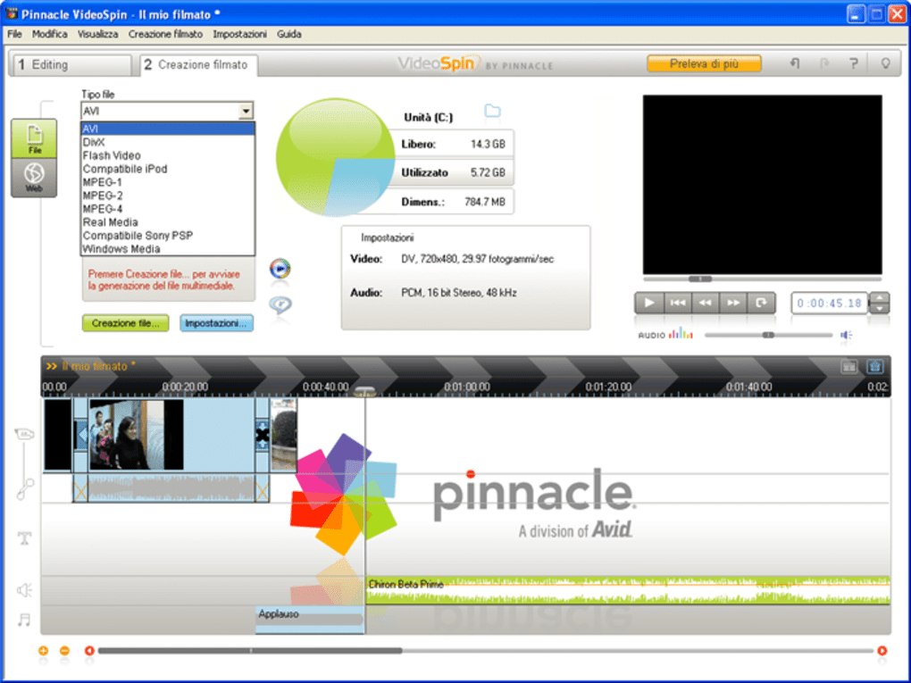 pinnacle videospin gratis