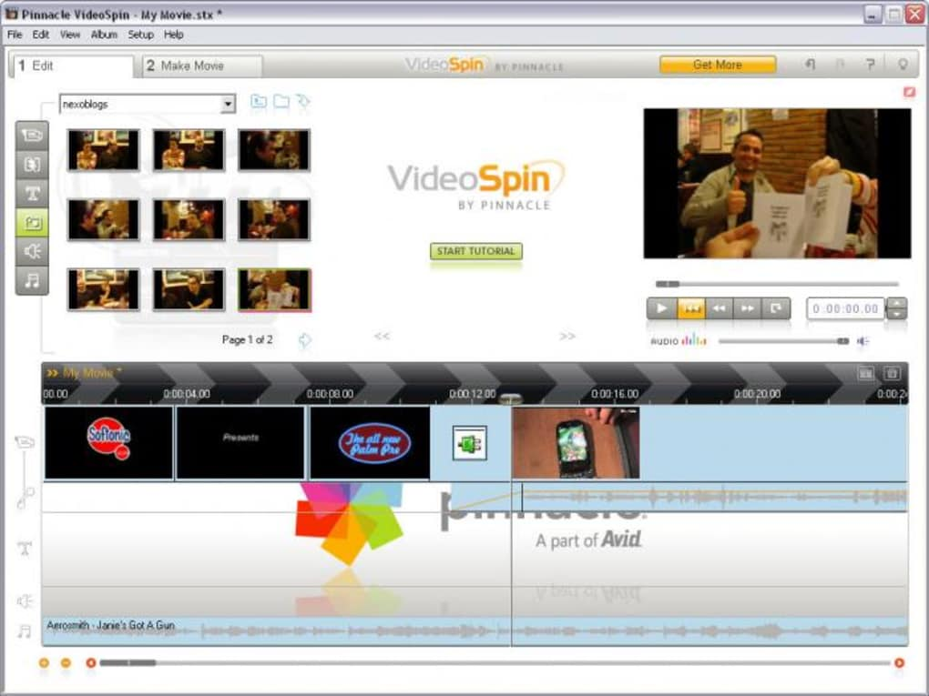 pinnacle videospin pour windows 7