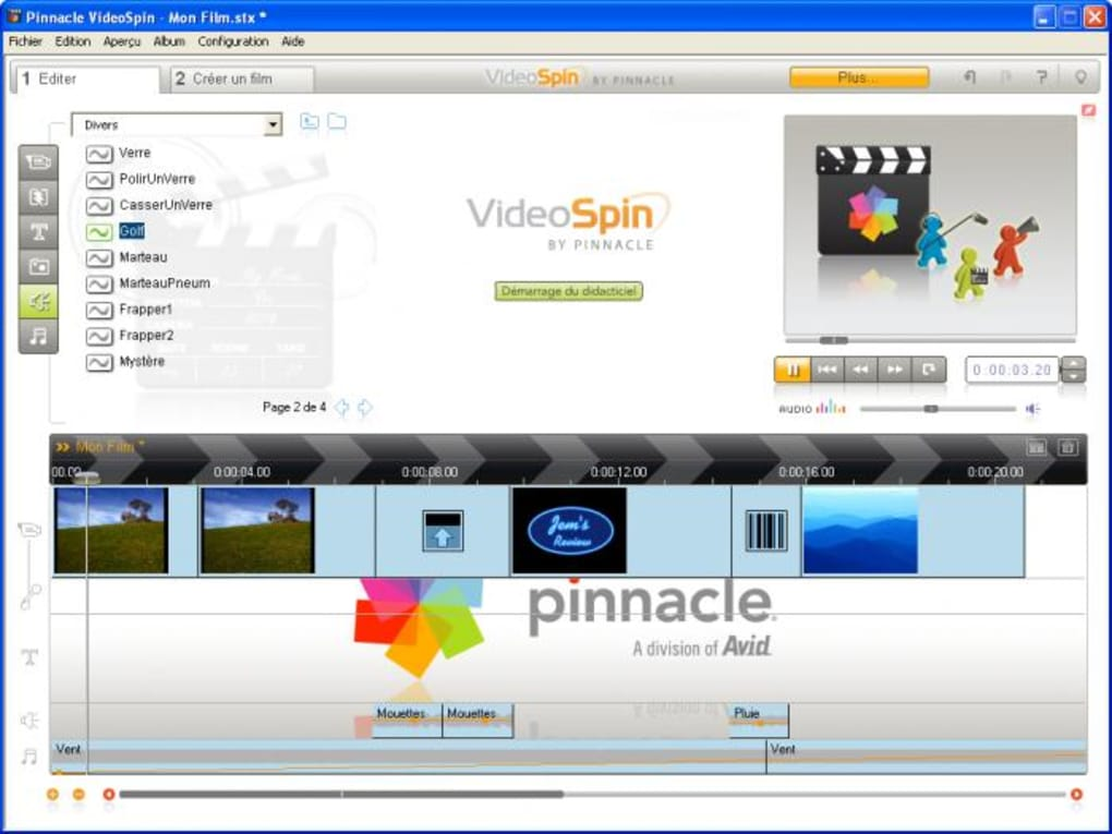 pinnacle videospin gratuit windows 8