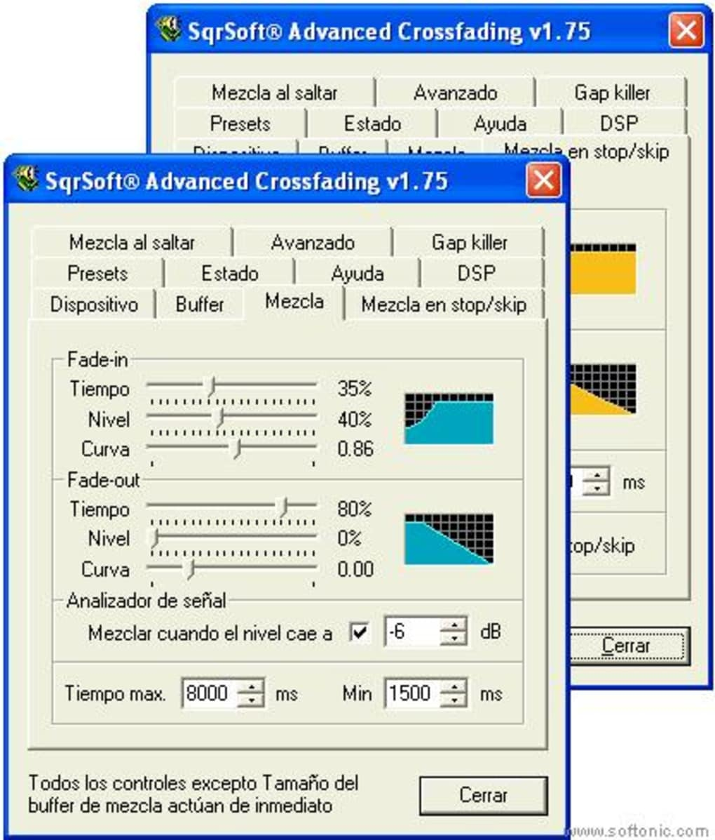 sqrsoft advanced crossfading output