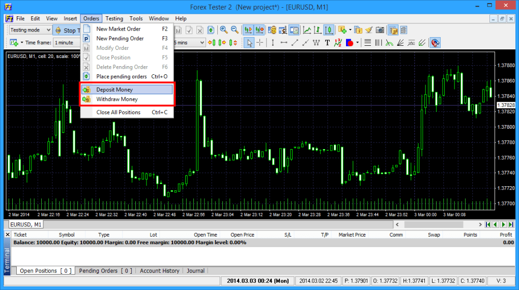 How to use forex tester 2