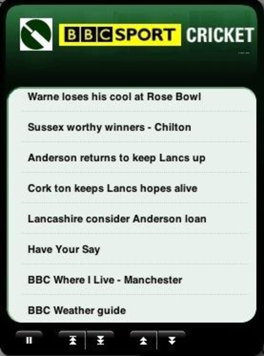 BBC Cricket Widget for Mac - Download