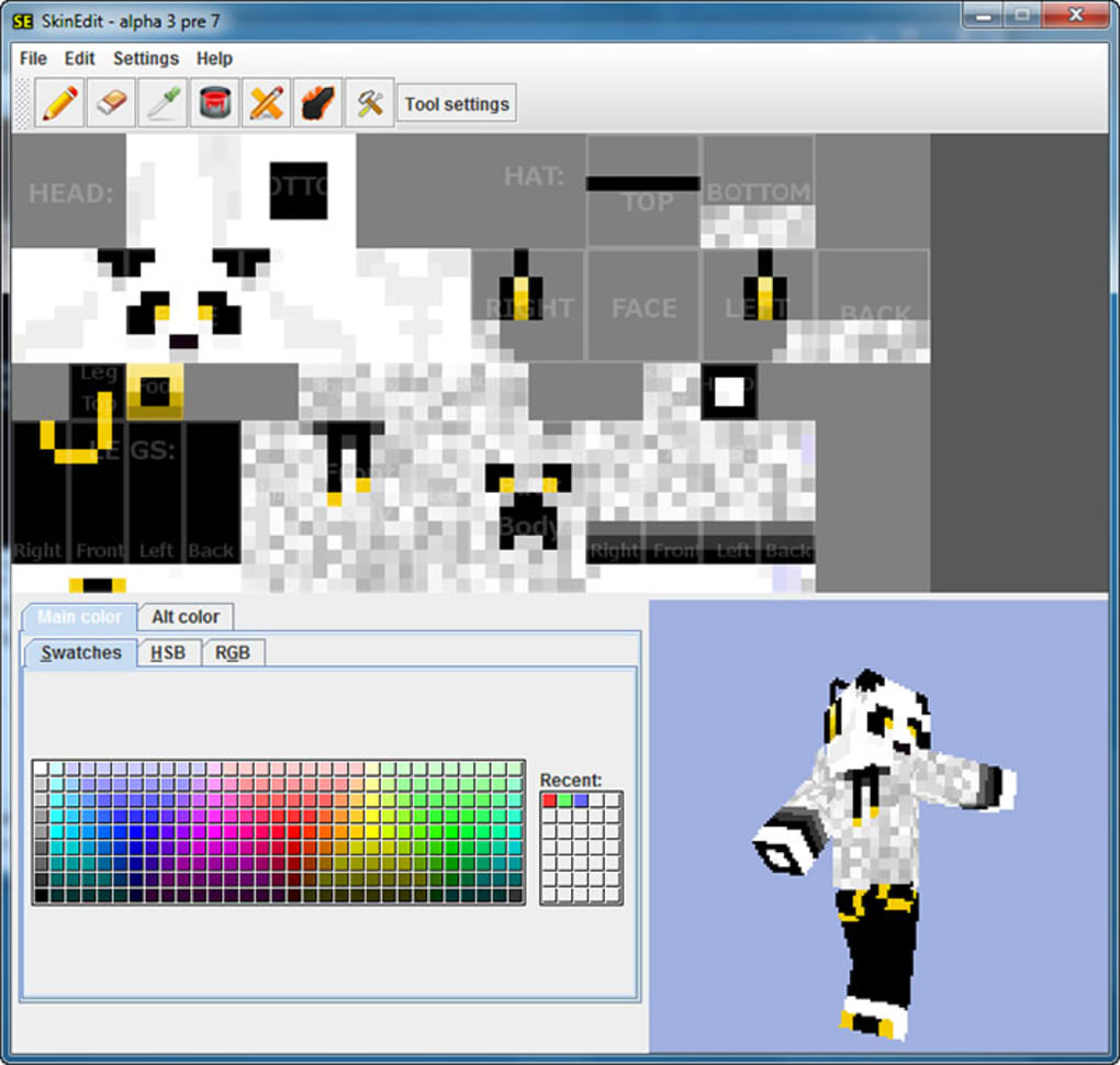skin editor minecraft 1.8 download