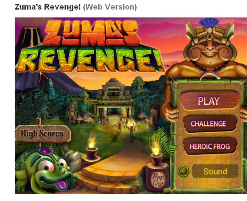 Zuma S Revenge Online
