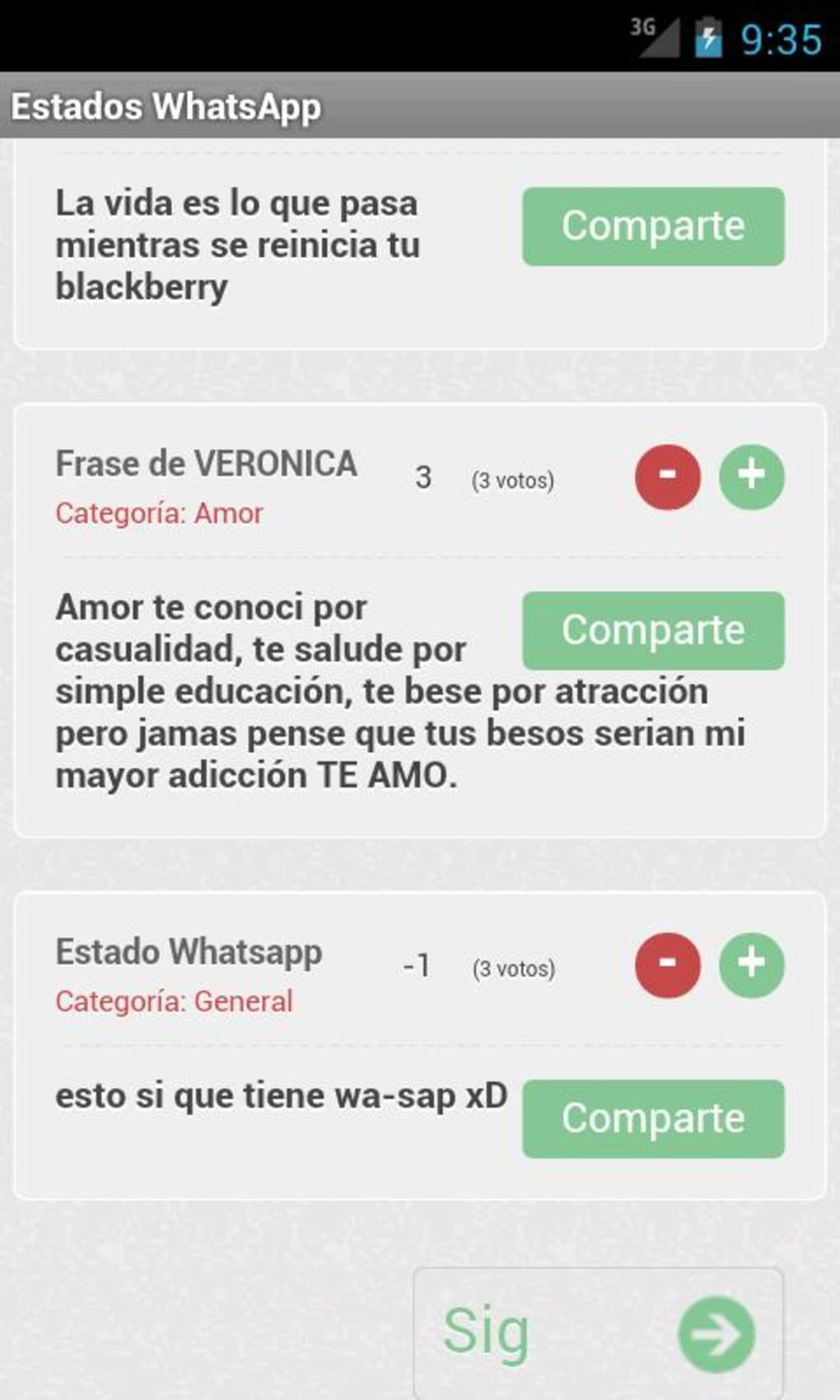 Frases Y Estados Whatsapp Para Android Descargar