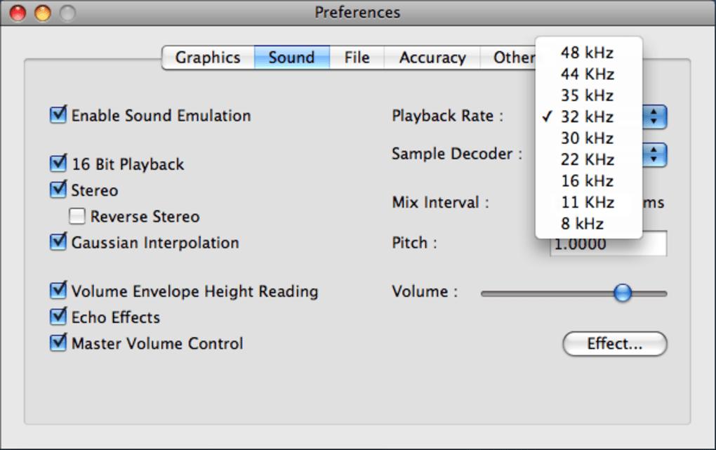Snes9x für Mac - Download