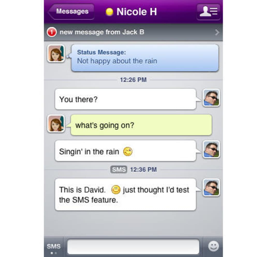 yahoo messenger for iphone yahoo messenger pour iphone t 233 l 233 charger 16532
