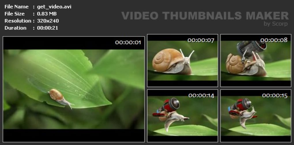 Video Thumbnails Maker - Download