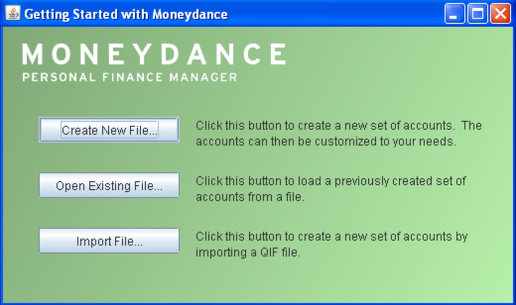 Moneydance - Download