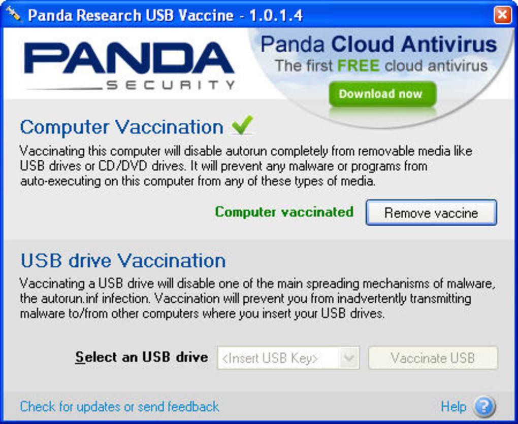 panda vaccine usb