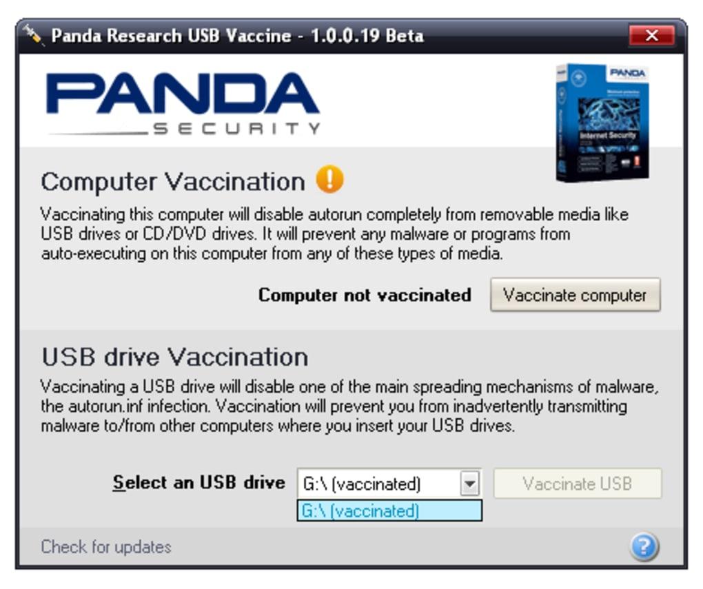 USB BAIXAR PANDA VACINA
