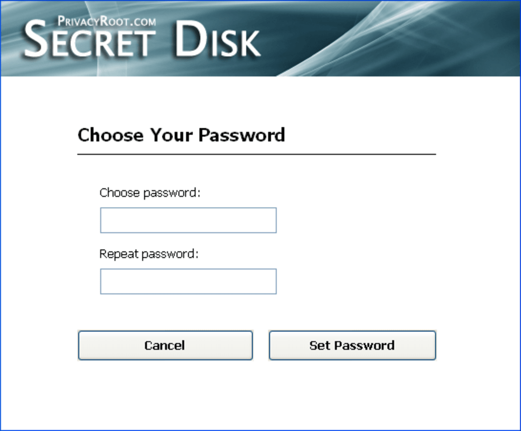 secret disk for windows 7