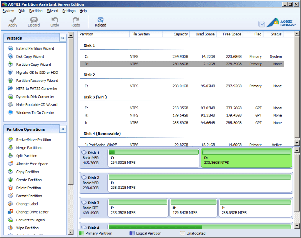 aomei partition assistant home edition 5.1 free download