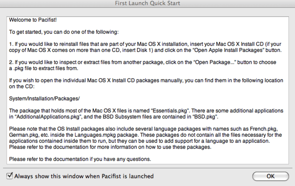Pacifist for Mac - Download