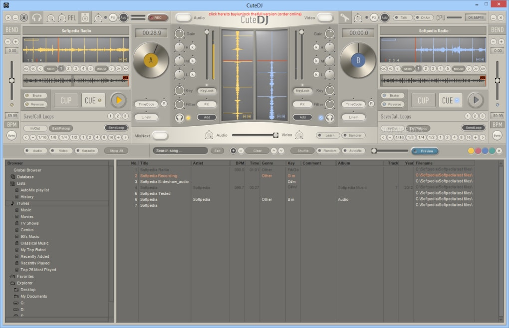 CuteDJ - DJ Mixing Software - Download