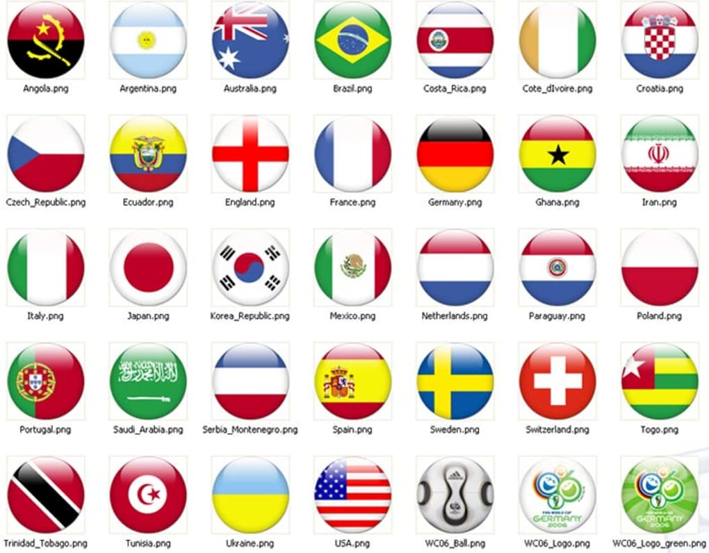 World Cup Flags Download