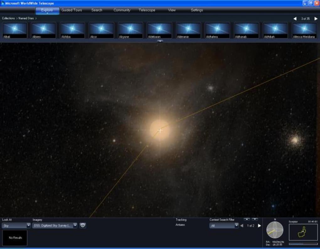 worldwide telescope francais