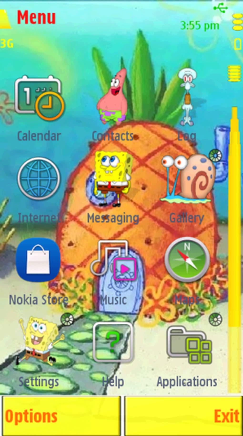 temas para celular nokia c3 do bob esponja
