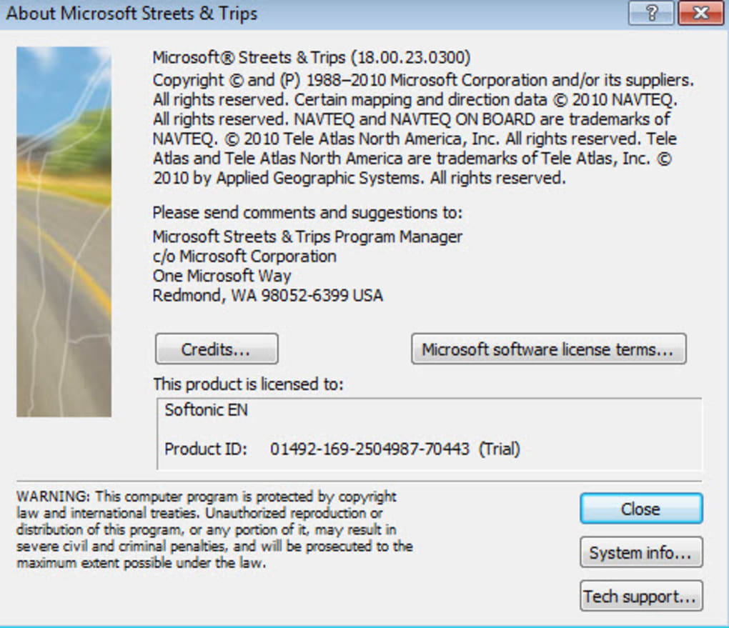 Where does windows store product key for streets & trips? Page 2.