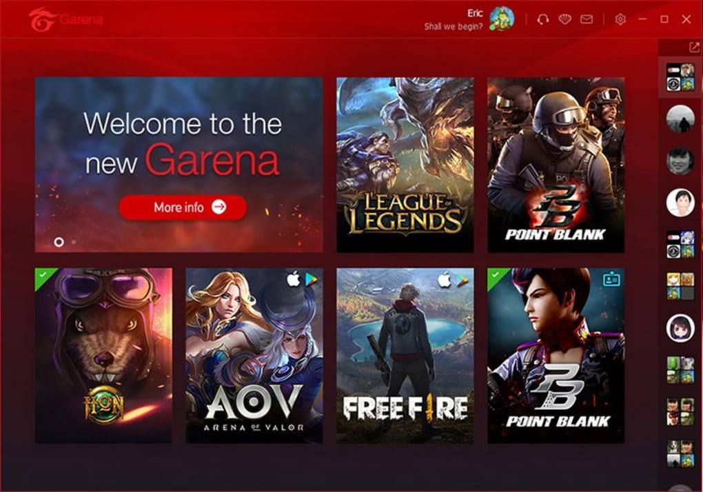 Garena download.