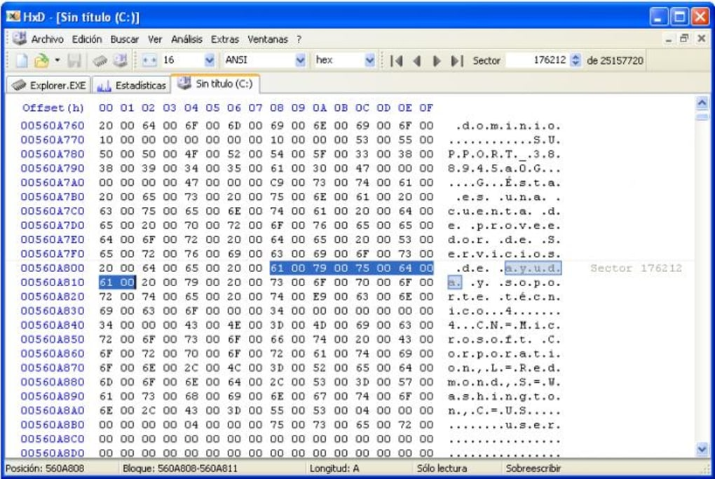 windows free hex editor portable