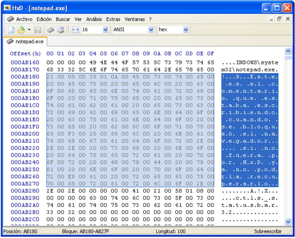 hxd - freeware hex editor and disk editor