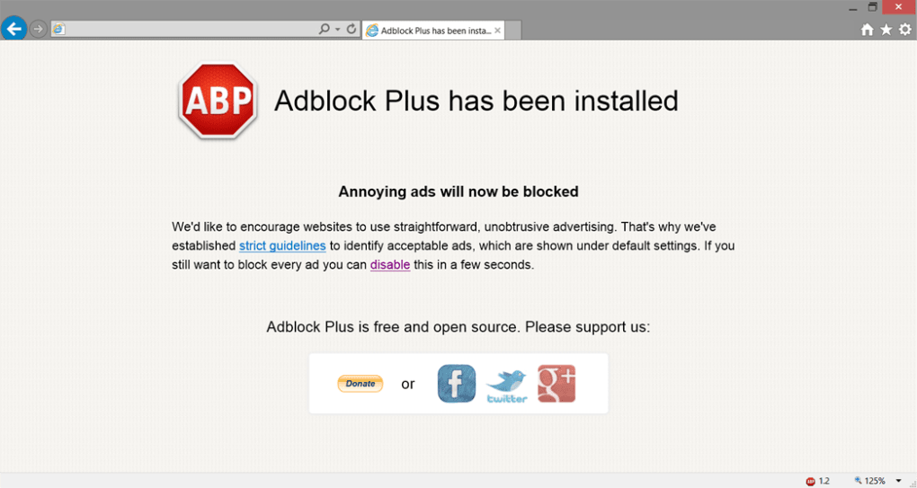 Adblock Plus for Internet Explorer - Download