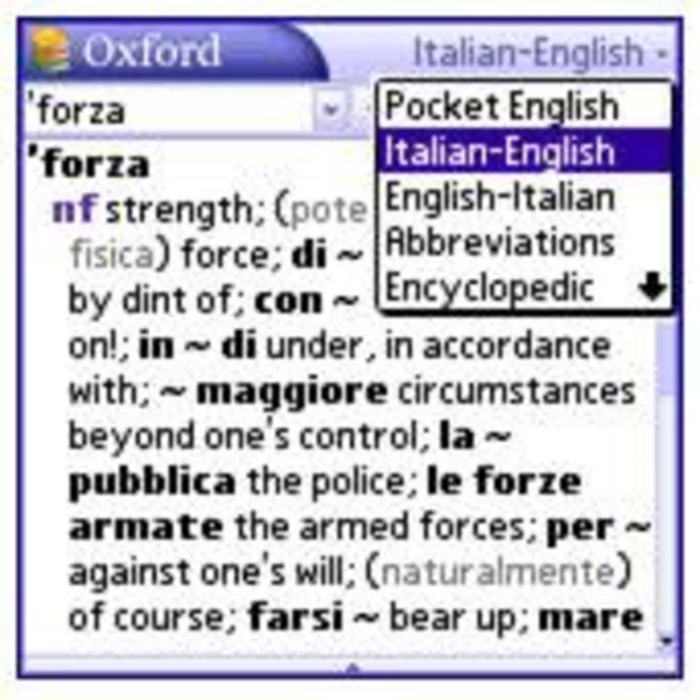 Pocket Oxford Italian Dictionary; Pocket Oxford Italian Dictionary