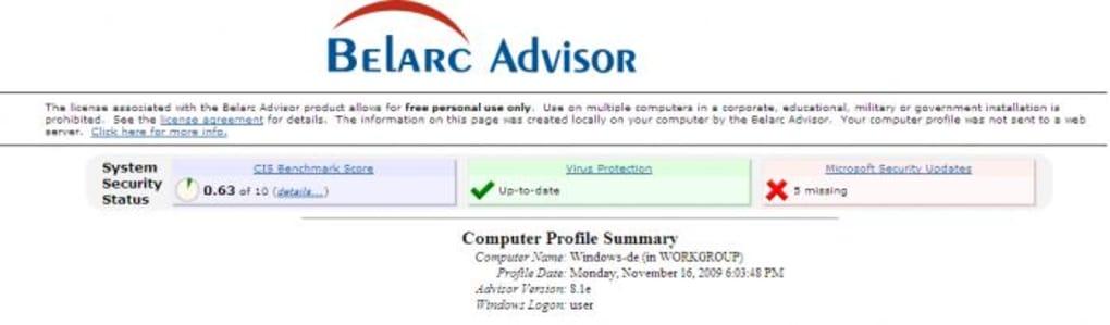 Belarc Advisor - Download