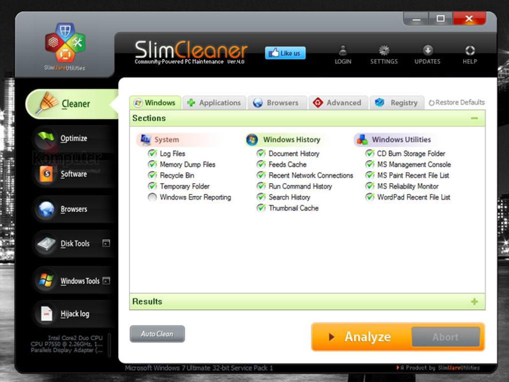 what is slimware cleaner plus