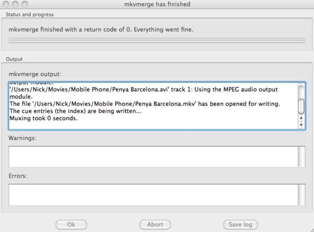 mkvmerge pour mac