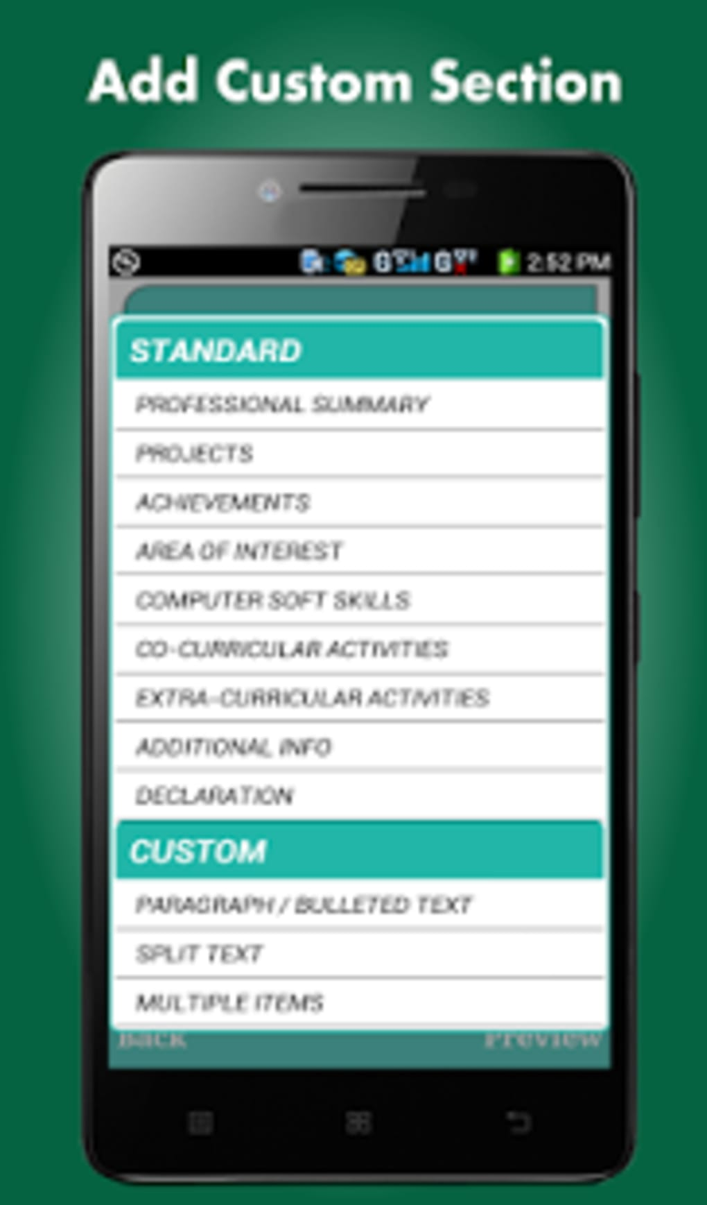 smart resume builder    cv free for android
