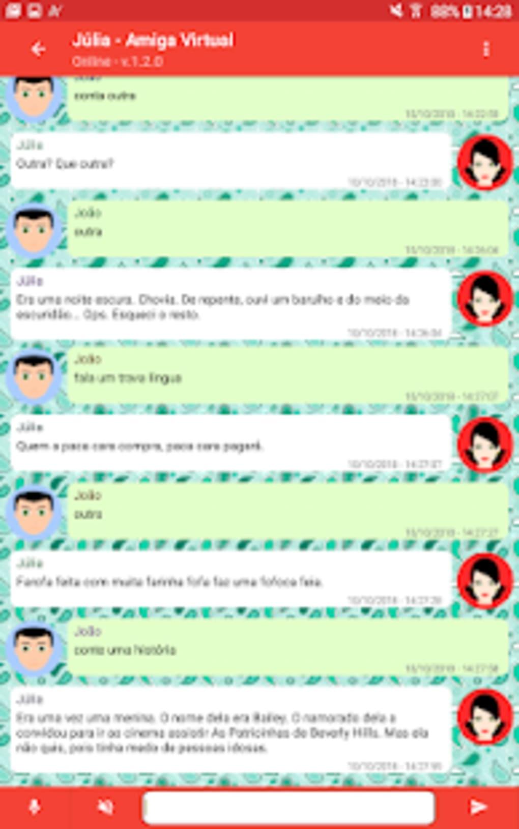 Júlia - Amiga Virtual e chatbot em português  para Android - Download