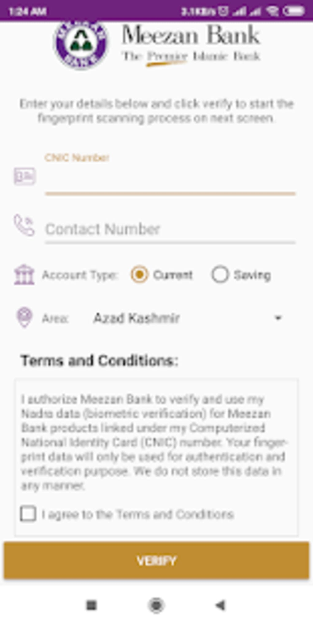 Meezan Biometric Verification for Android - Download