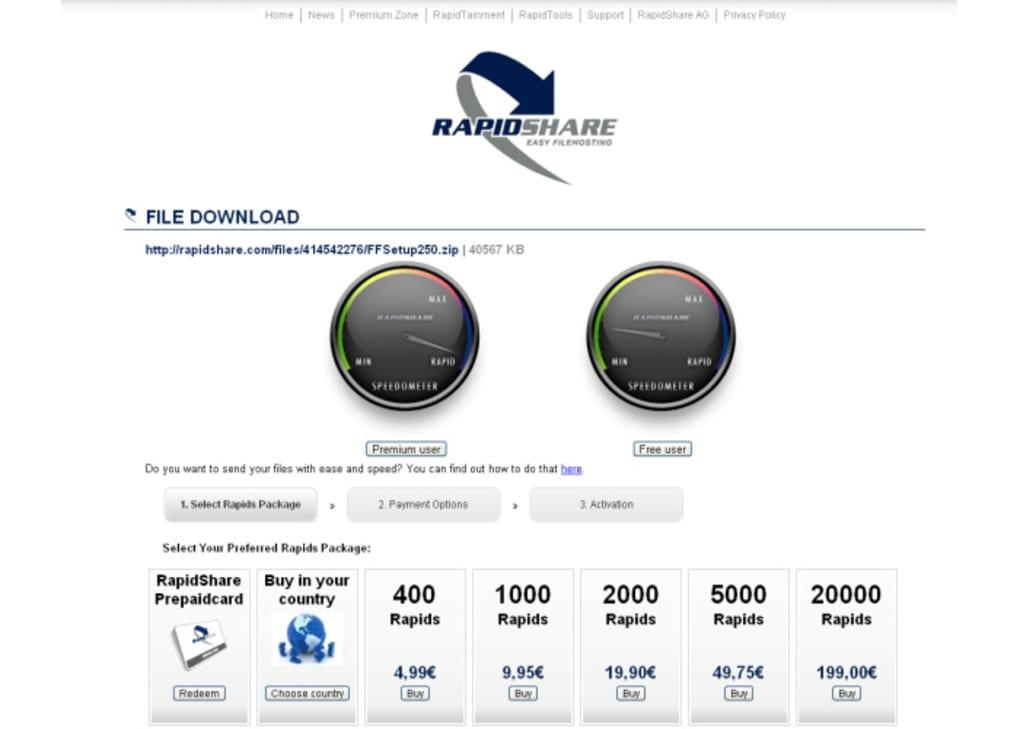 rapidshare online