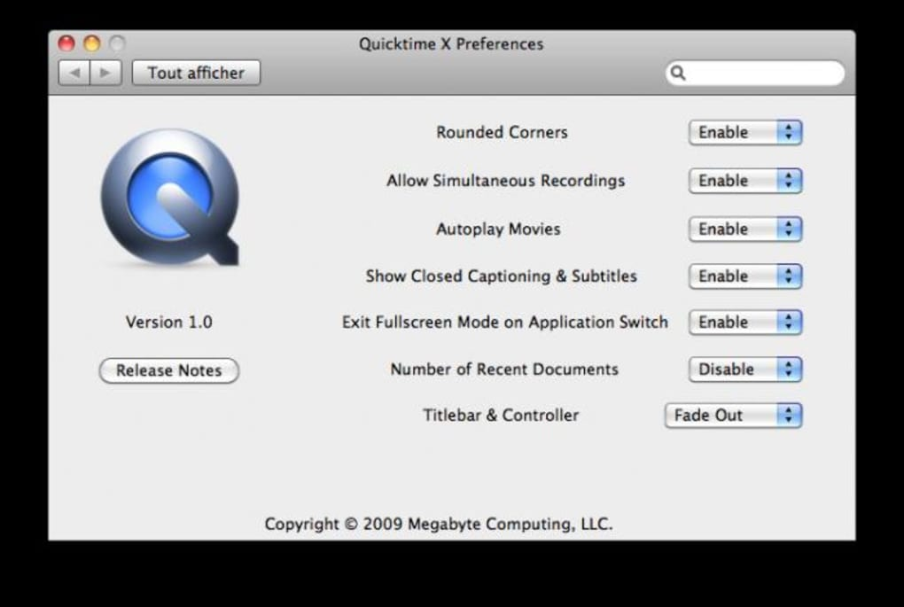 QuickTime X Preferences for Mac - Download