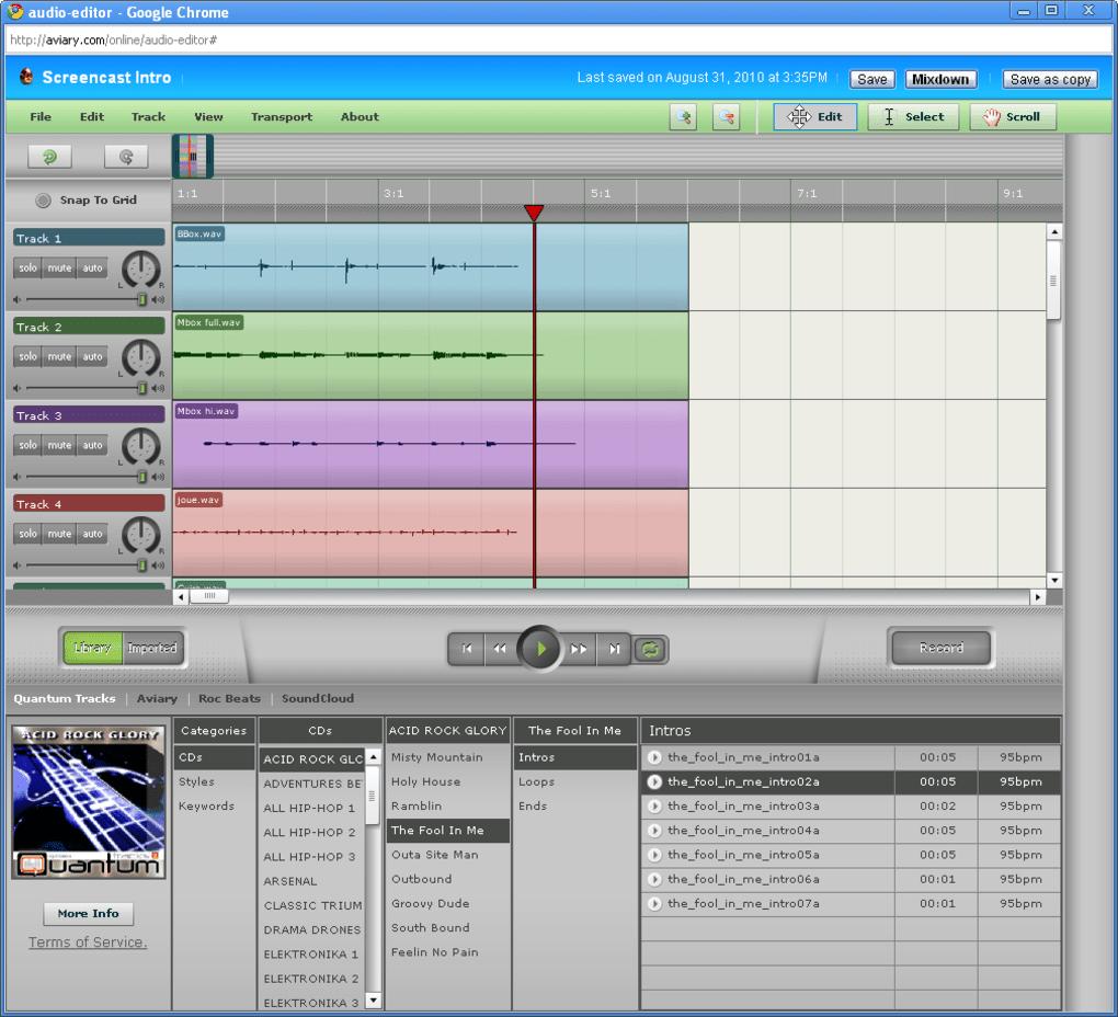 aviary audio editor gratuit