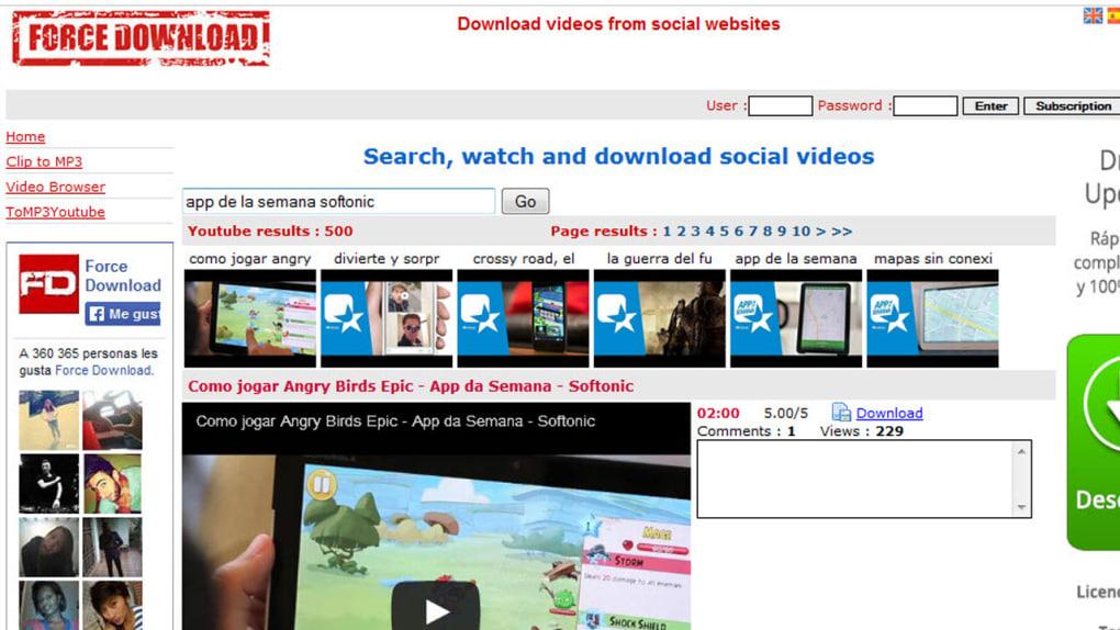 force download mp4 youtube gratis