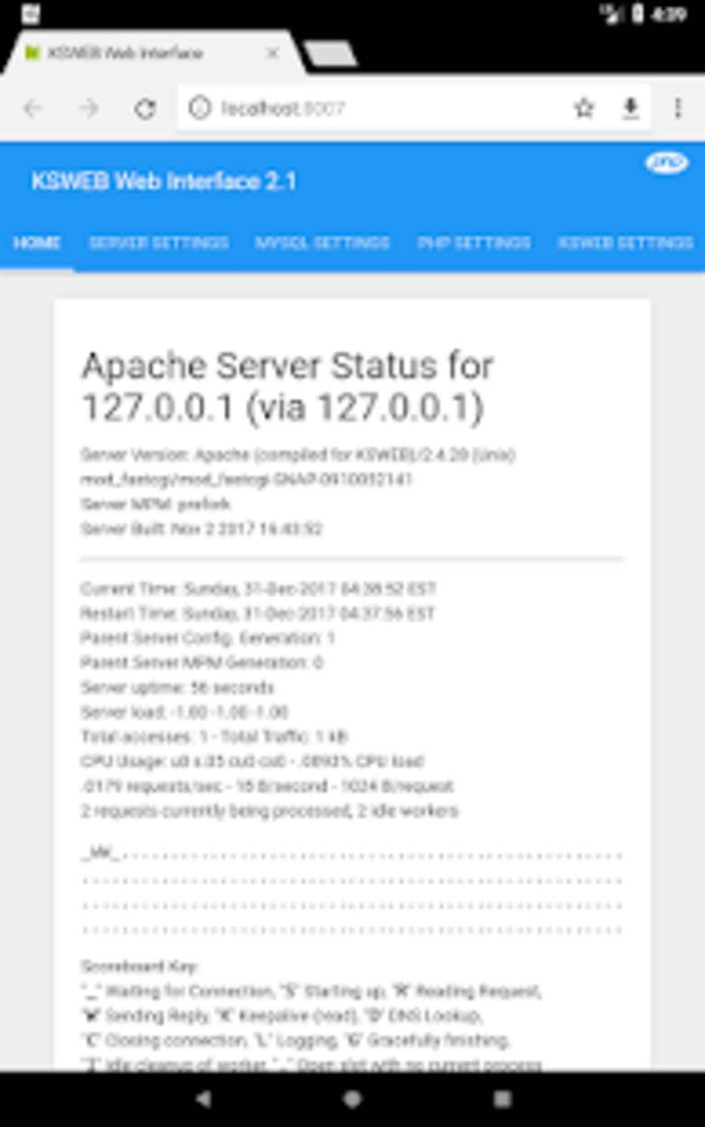 Web server android free