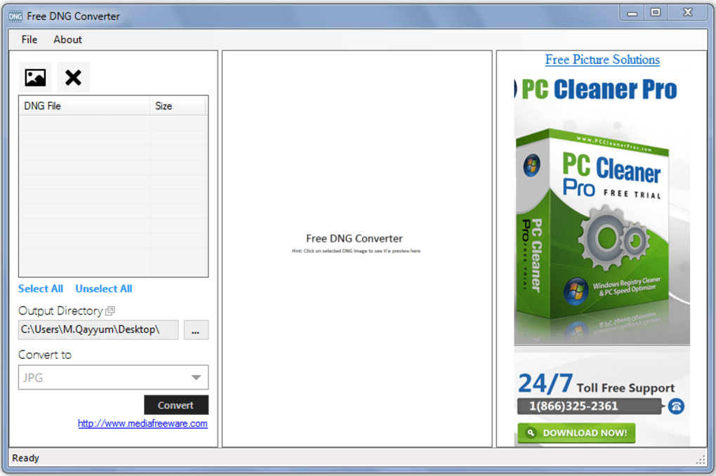 convert raw pictures to jpeg free