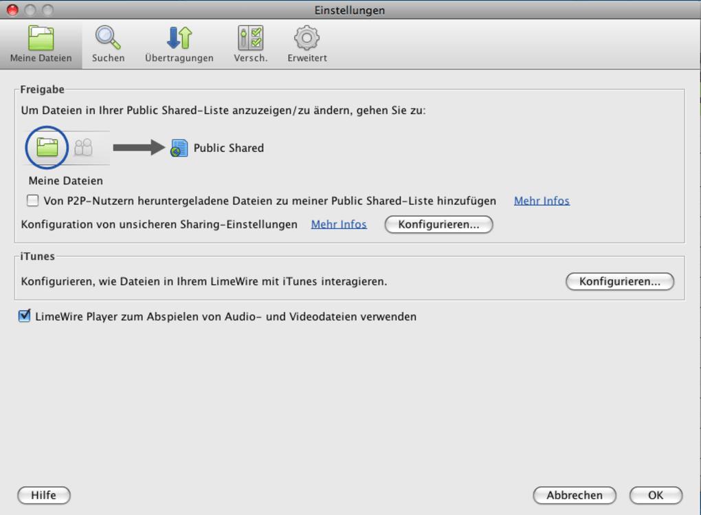 limewire pour mac os x version 10.4.11