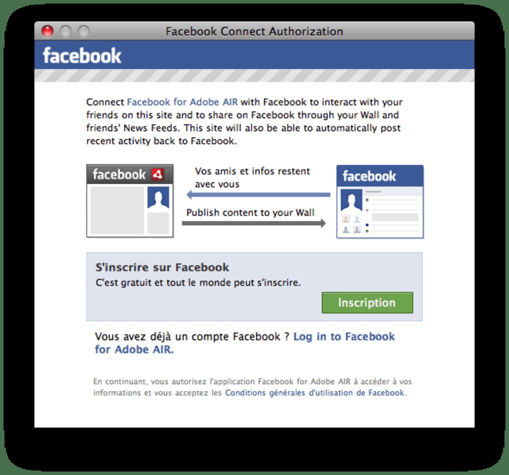 Facebook For Adobe Air Pour Mac Télécharger