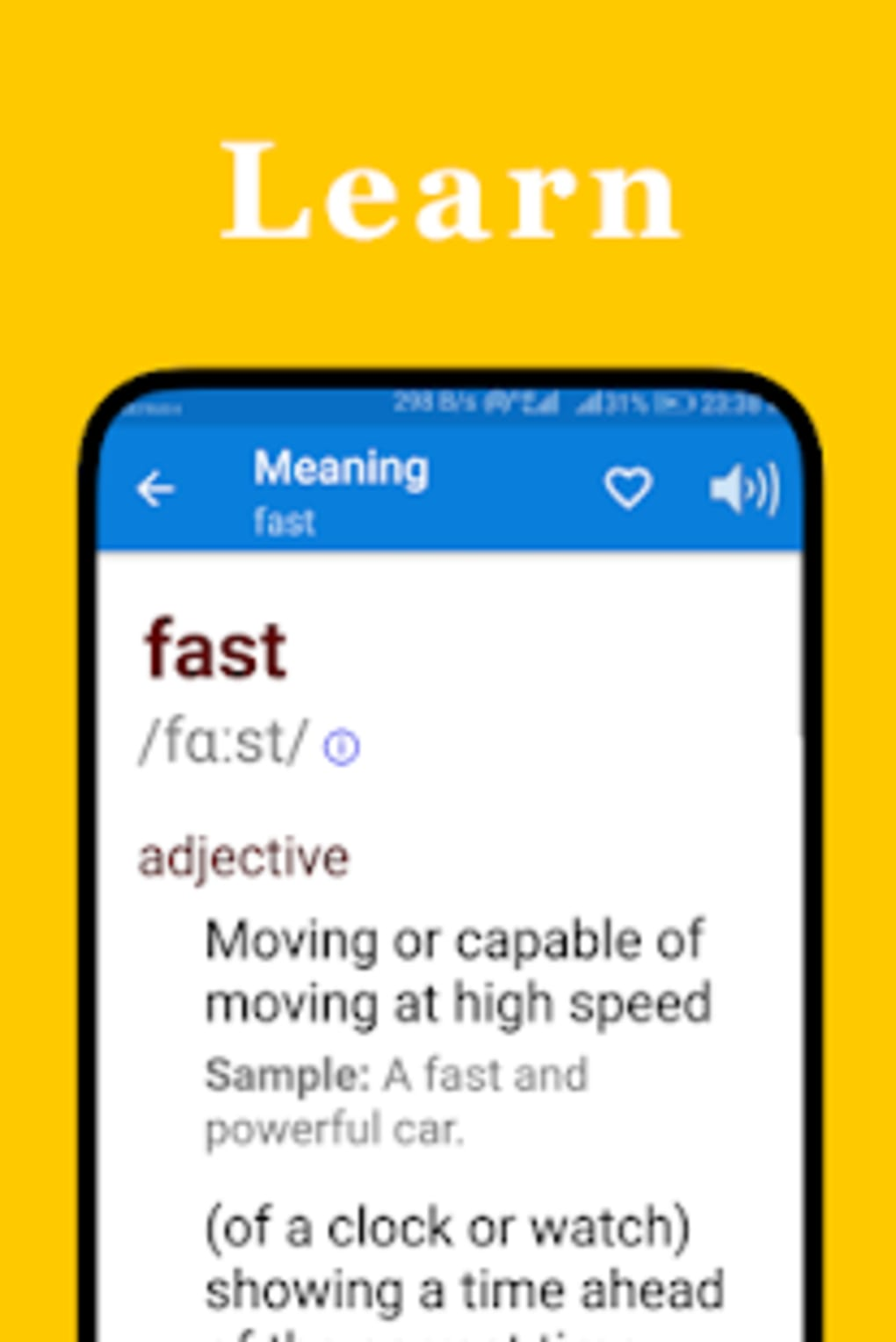 English Fast Dictionary for Android - Download